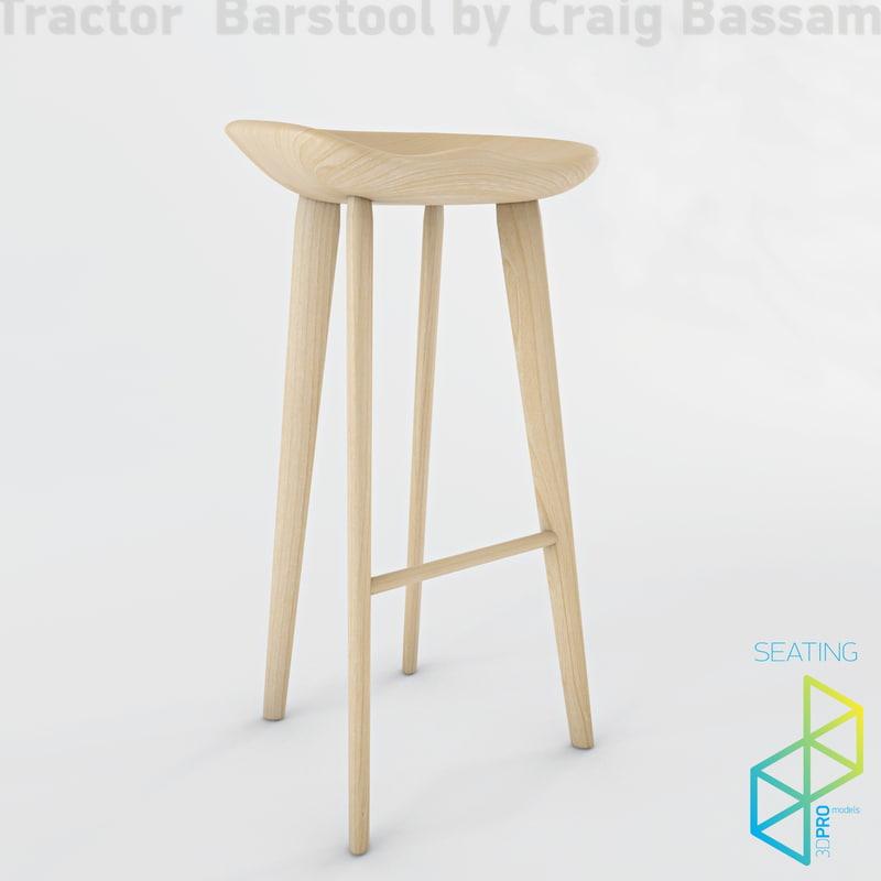 tractor stool bar 3d model