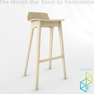 bars stool 3d 3ds