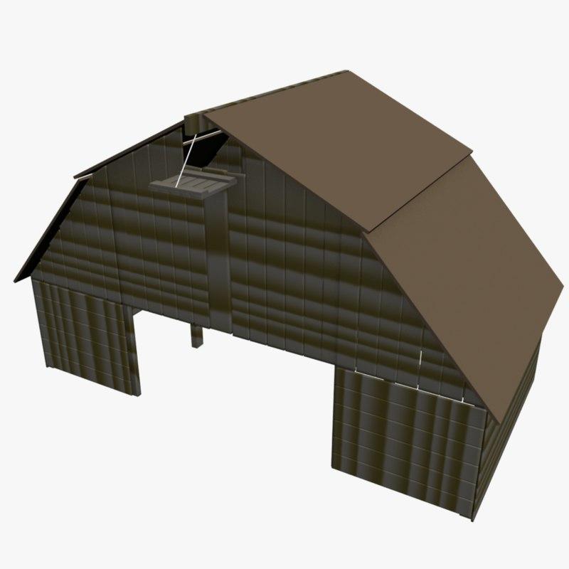 3d model barn farm building