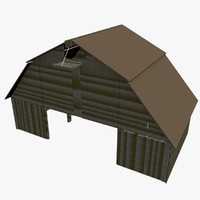 3d model barn farm building