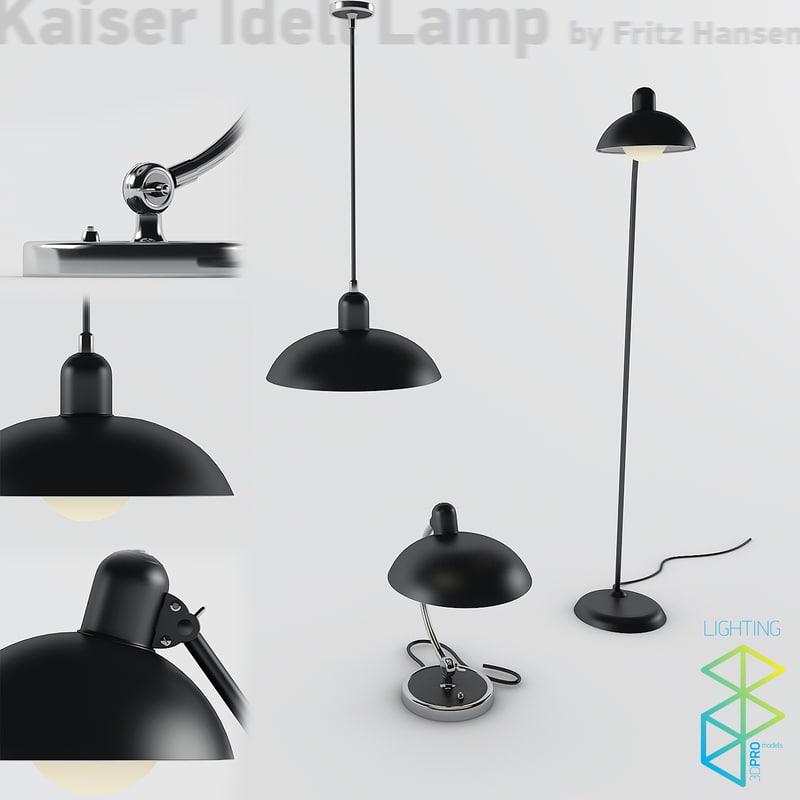 kaiser idell lamps 3d model