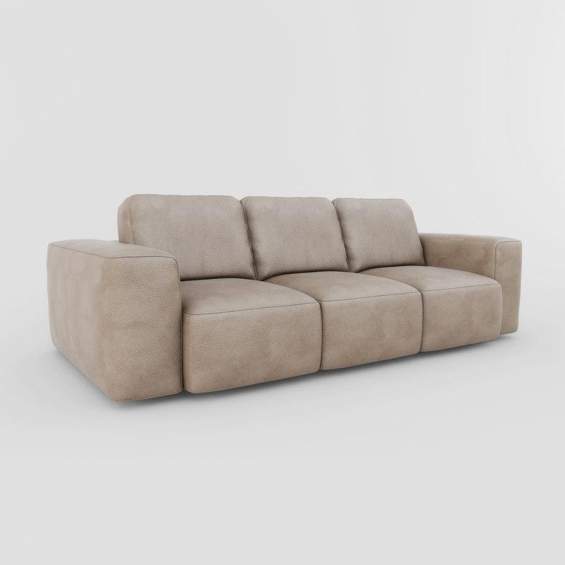 soft modern living 3d 3ds