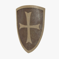 3d european shield 2 model