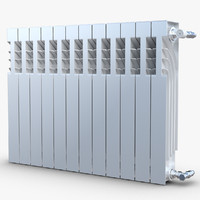 3d max modern radiator