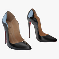 louboutin hot chick woman shoes 3d model