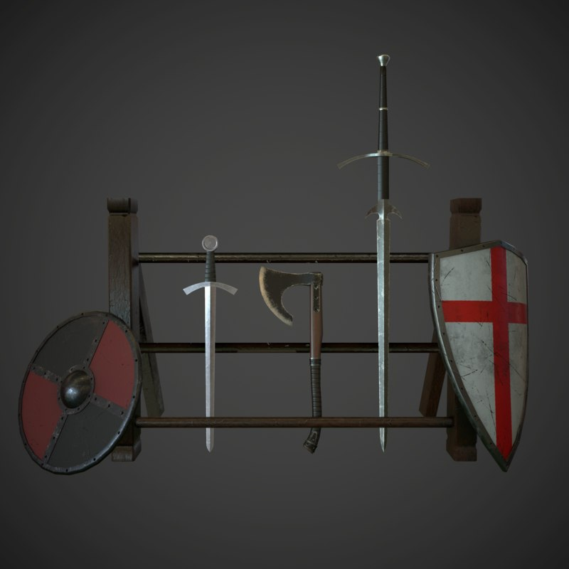 max set medieval weapon
