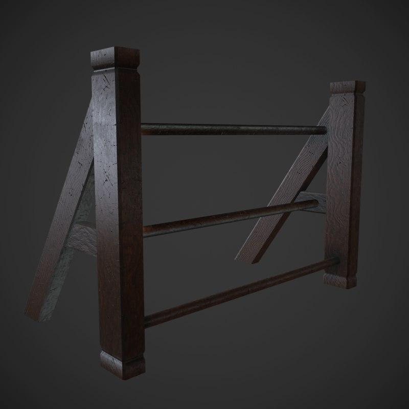 weapon rack obj