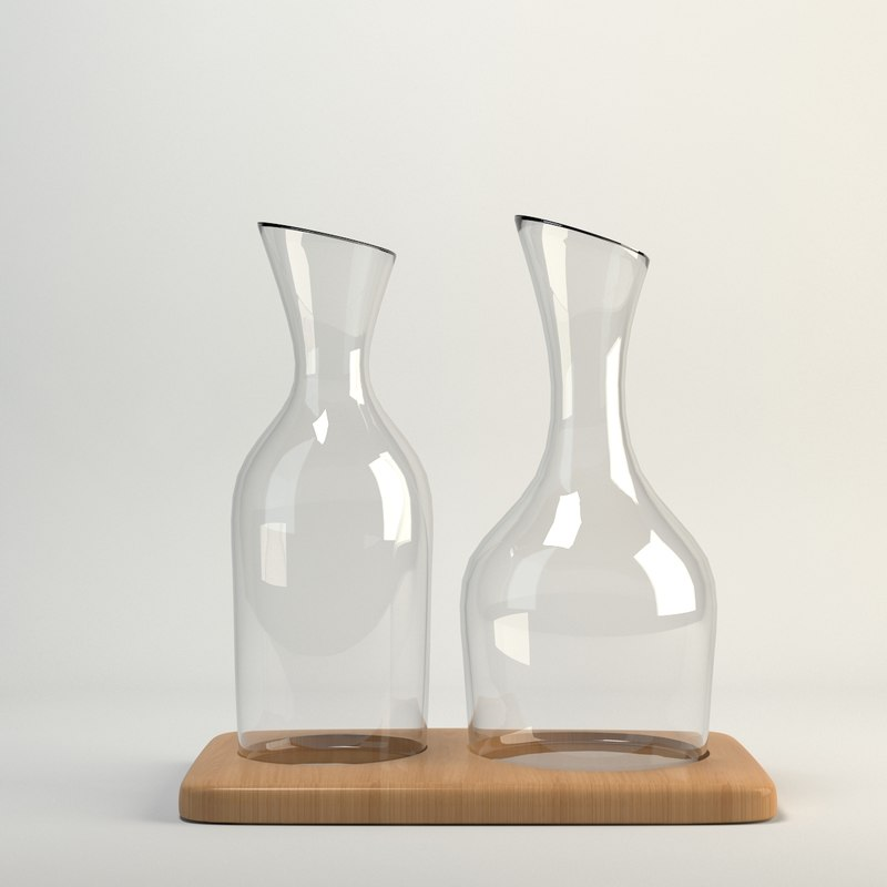 3d model water wine carafe