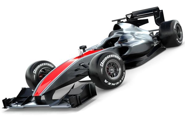 generic racing car 3d model