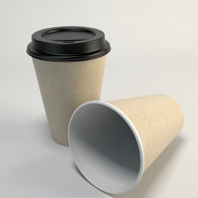 coffee cup takeout 3d 3ds