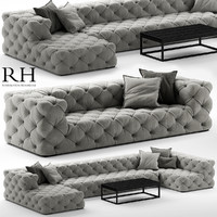 3d soho tufted sofa