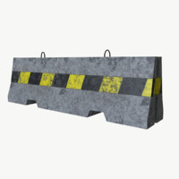 3d model of concrete barrier