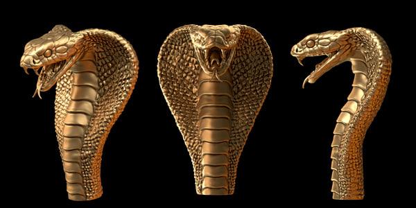 cobra head 3d obj