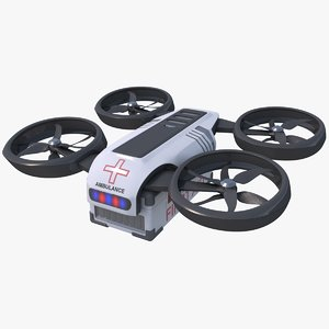 3d ambulance quadrocopter model