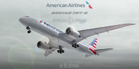 3ds boeing 787-8 american airlines