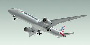 boeing 787-9 dreamliner plane 3d max