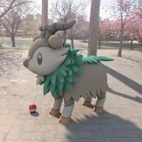 pokemon skiddo 3d model