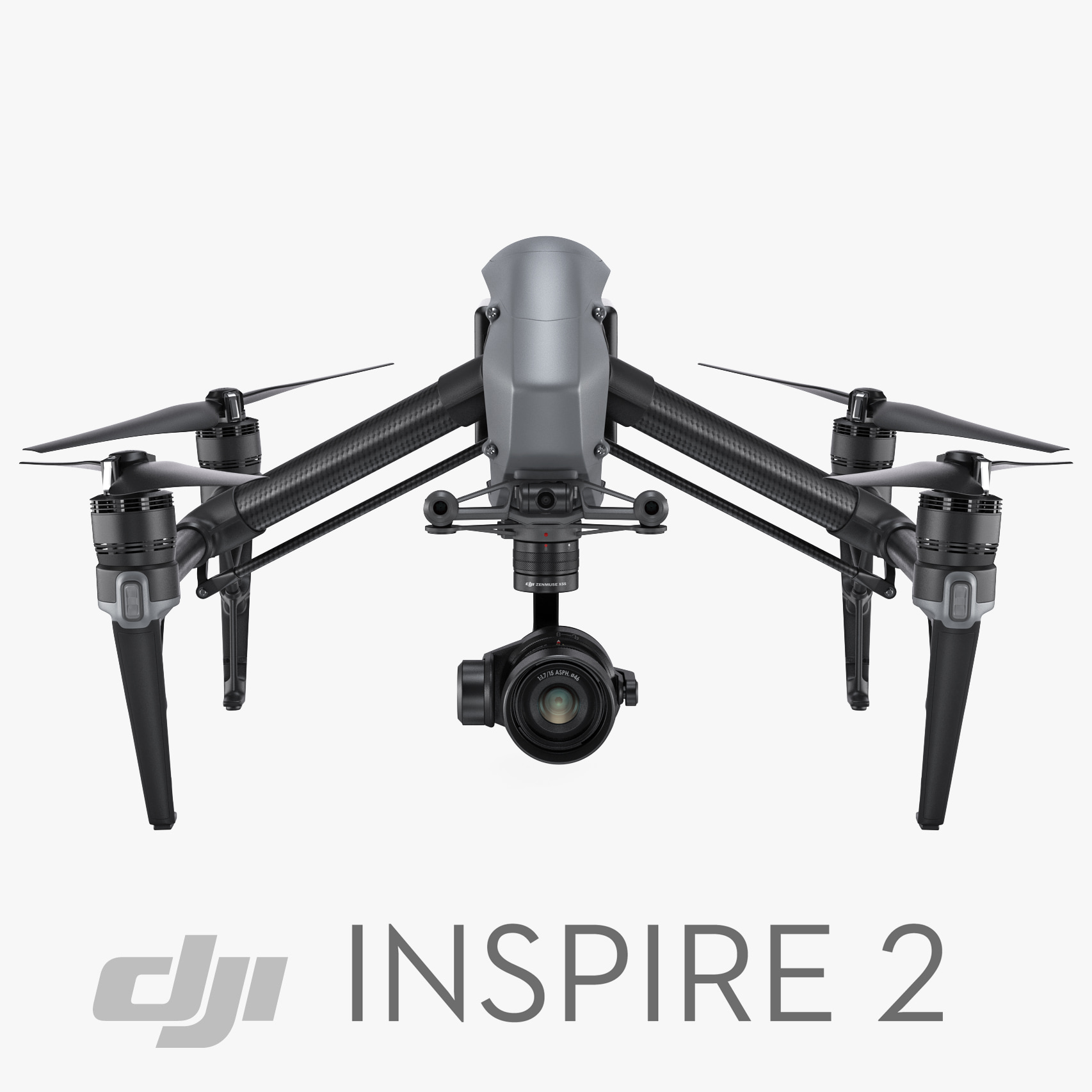 dji inspire 2 rigged 3d model
