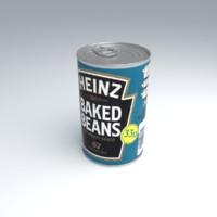 heinz baked beans 3d max