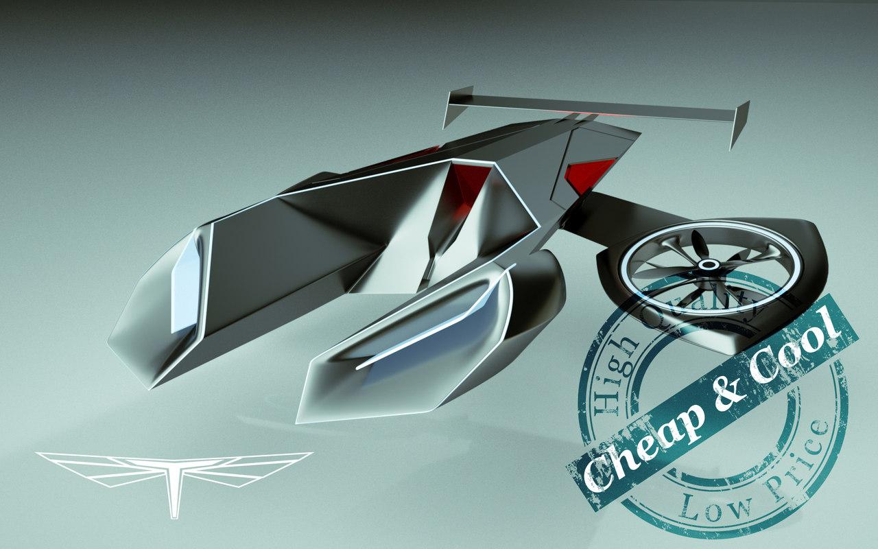 car copter 3d max