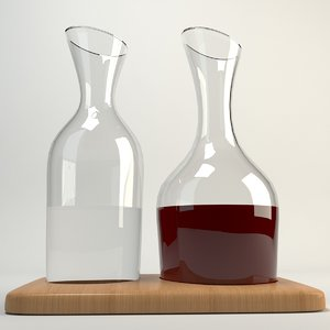 3d carafe wine water model