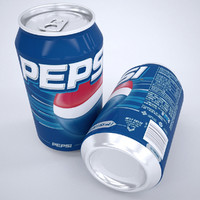 3d pepsi cans model
