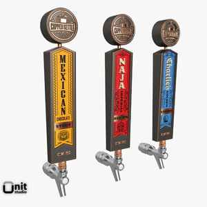 copper kettle beer taps 3d model