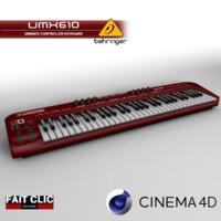 behringer umx610 keyboard 3d model