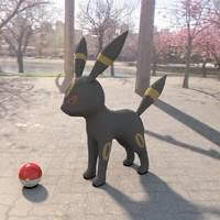 3d pokemon umbreon