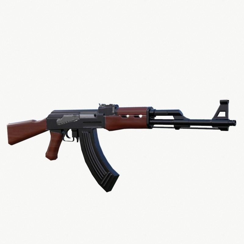 ak47 ak 47 3d model
