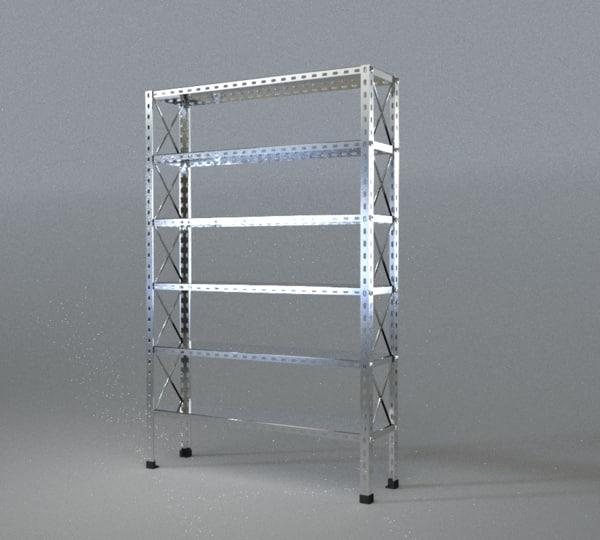 metal shelf obj