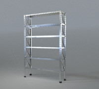 metal shelf obj