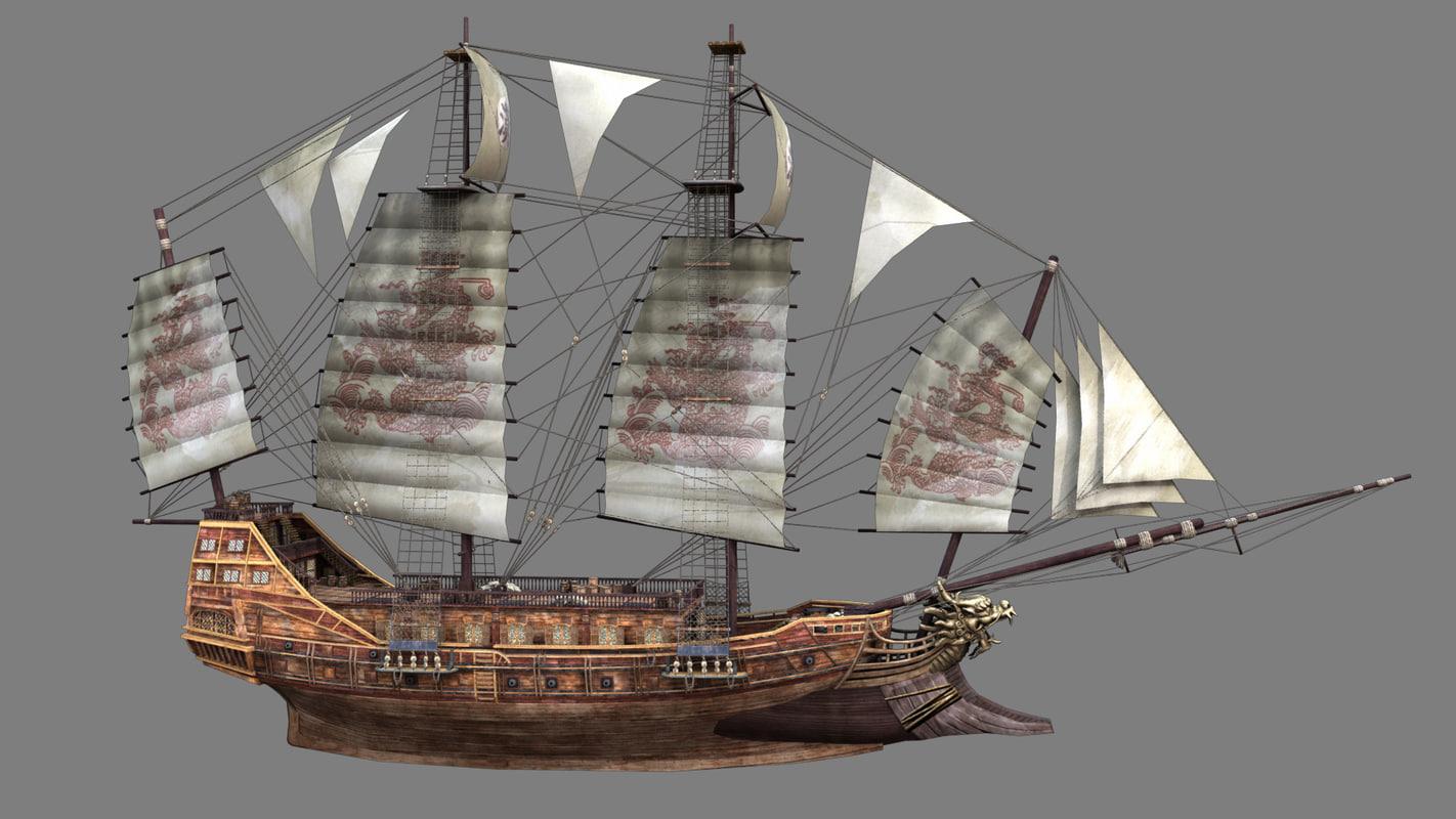 ancient ships 3d obj