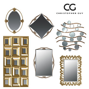 wall mirror christopher 3d model