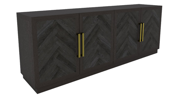 restoration hardware herringbone sideboard 3d model