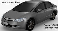 honda civic 2006 3d model