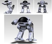 3d ed-209 robot robocop