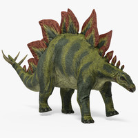3d model stegosaurus rigged