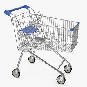 3d model supermarket cart