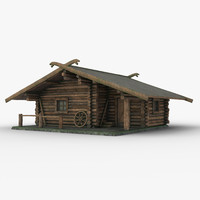 hunting house 3d obj