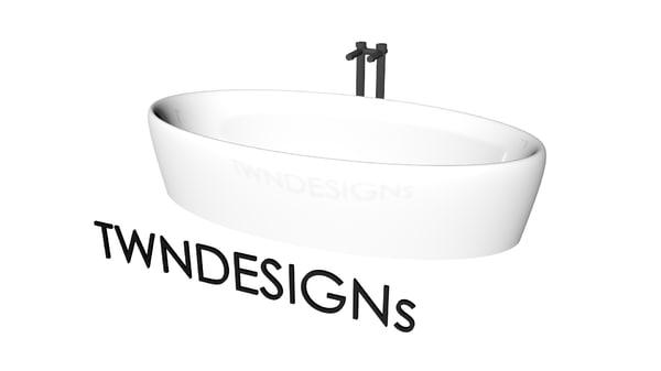 free 3ds model modern bathtub