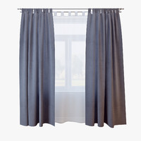3d model of curtains 026