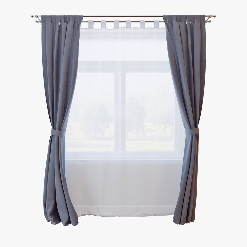 3d model of curtains 028