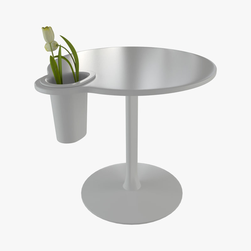 3d grip vase table model