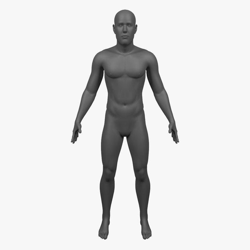 man - 3d model