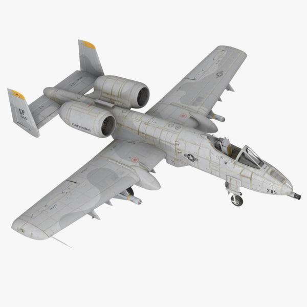 3d attack aircraft a-10 thunderbolt