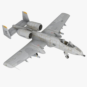 3d attack aircraft a-10 thunderbolt