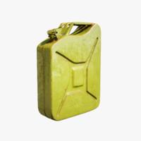 3d model petrol canister l