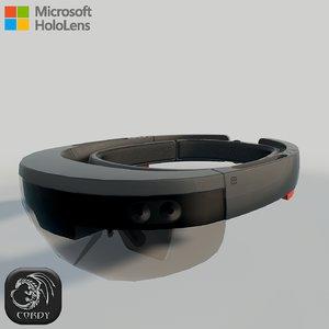 microsoft hololens 3d model