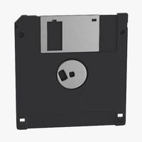 3d floppy disk 3 5 inch model